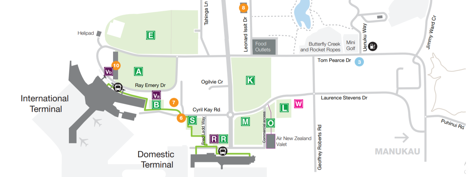 Auckland Airport Parking Map