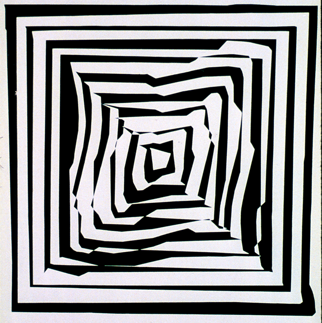 Hypertransformation 19, 1975, , Gouache on Cardboard, 75 cm x 75 cm