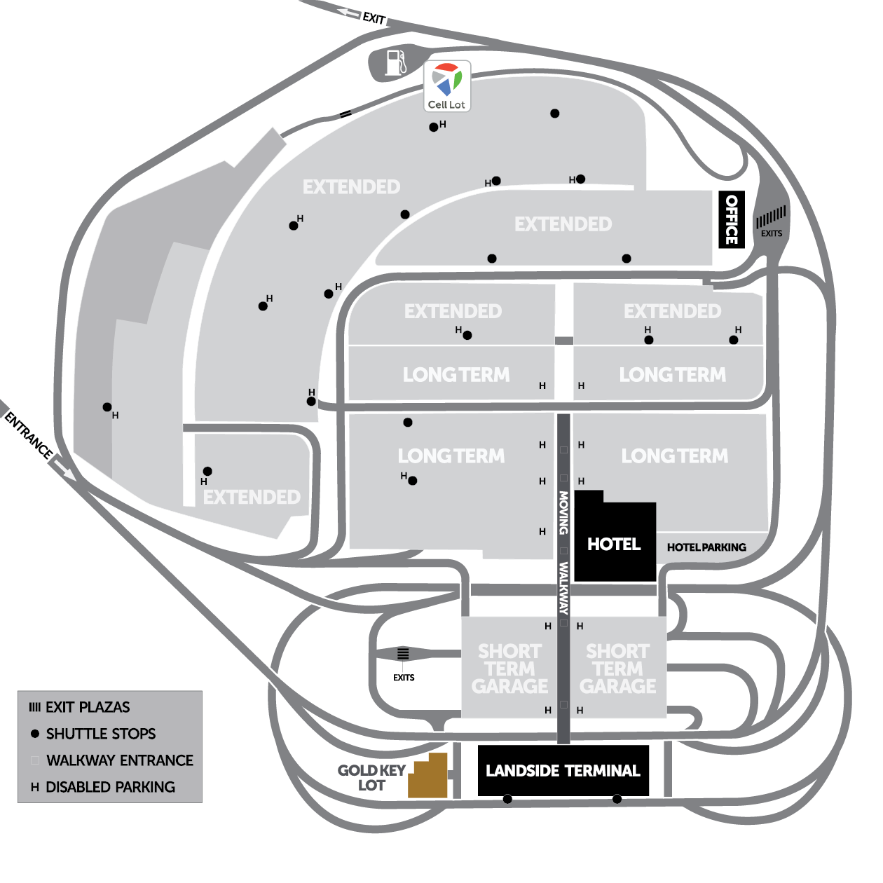 Pittsburgh Airport Parking Map