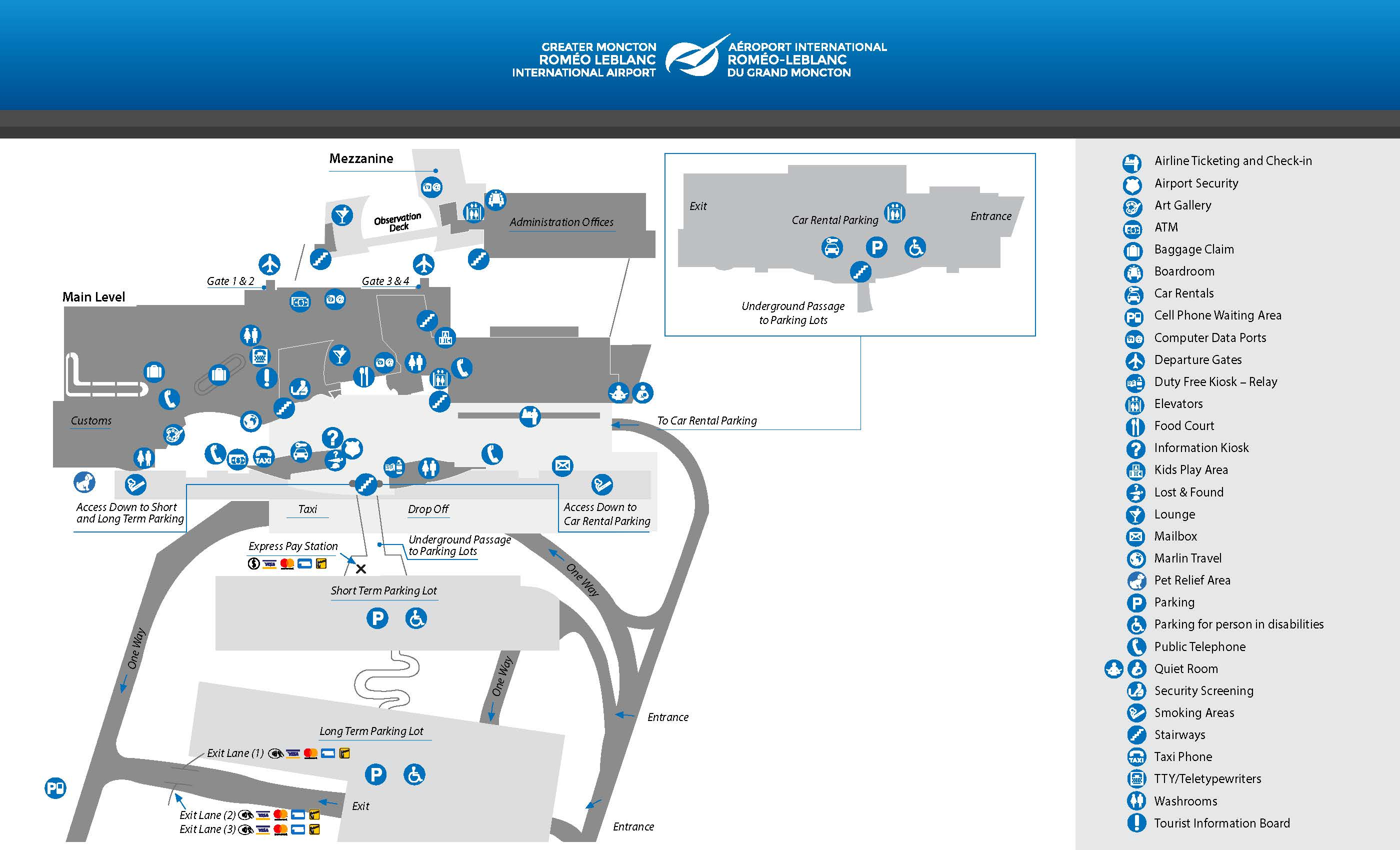 Moncton Airport Map