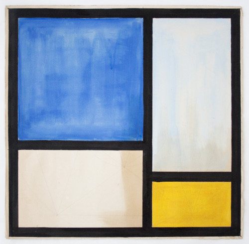 Apres Mondrian, 1950 - Vera re-creates Mondrian's art. Recreating The Past!