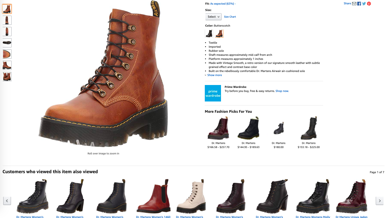 Amazon is offering personalized product recommendations for users