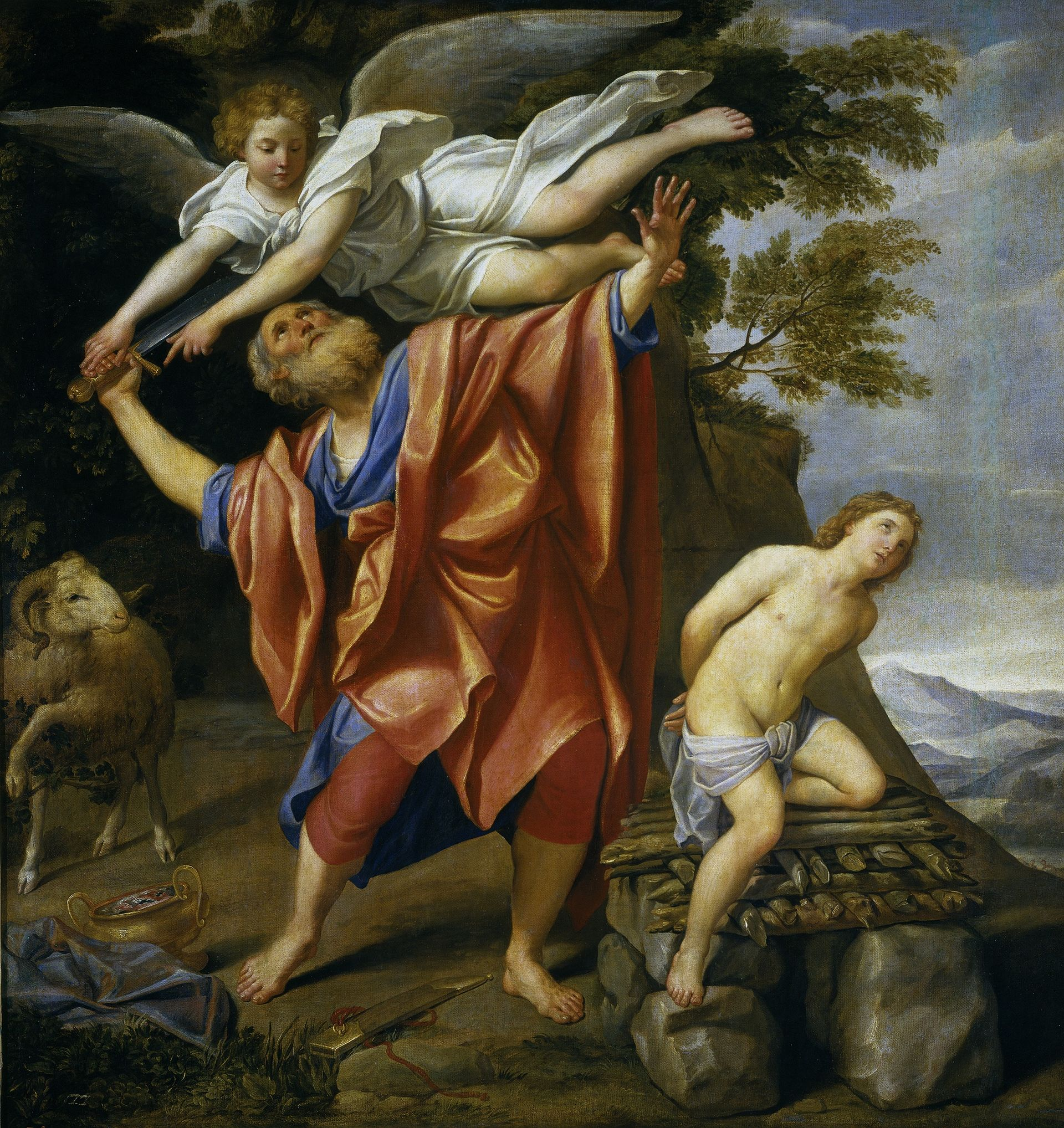 "God told Abraham to sacrifice his son at the hill that became Jerusalem. Abraham was willing but an angel swooped in at the last moment — ""kill the goat instead."""