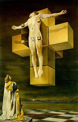 Dali's portrayal of the crucifixion.