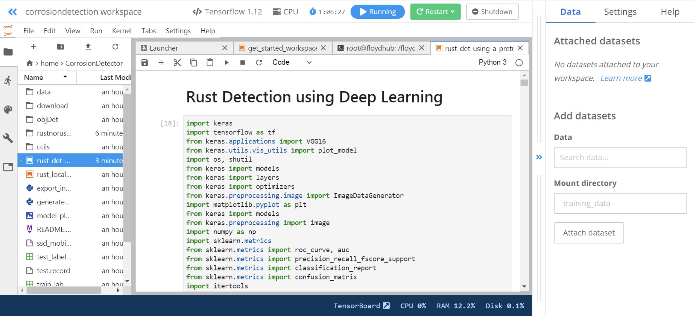 Using TensorFlow Object Detection API for Corrosion Detection and