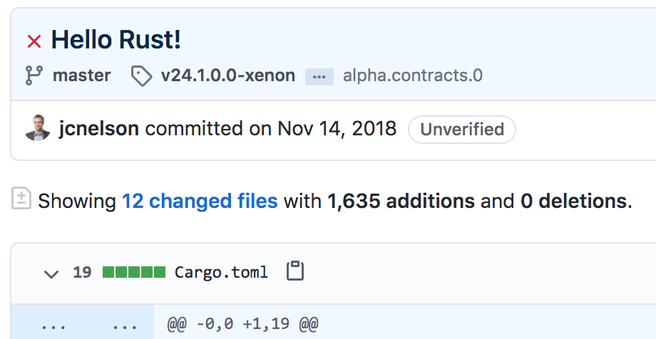 First Stacks 2.0 commit in Nov 2018! Stacks 2.0 is a new blockchain implementation in Rust.