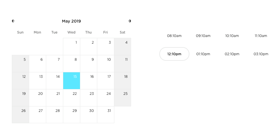 Bloom calendar scheduling tool