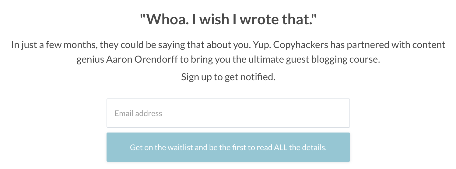 Example of UX copywriting in button copy