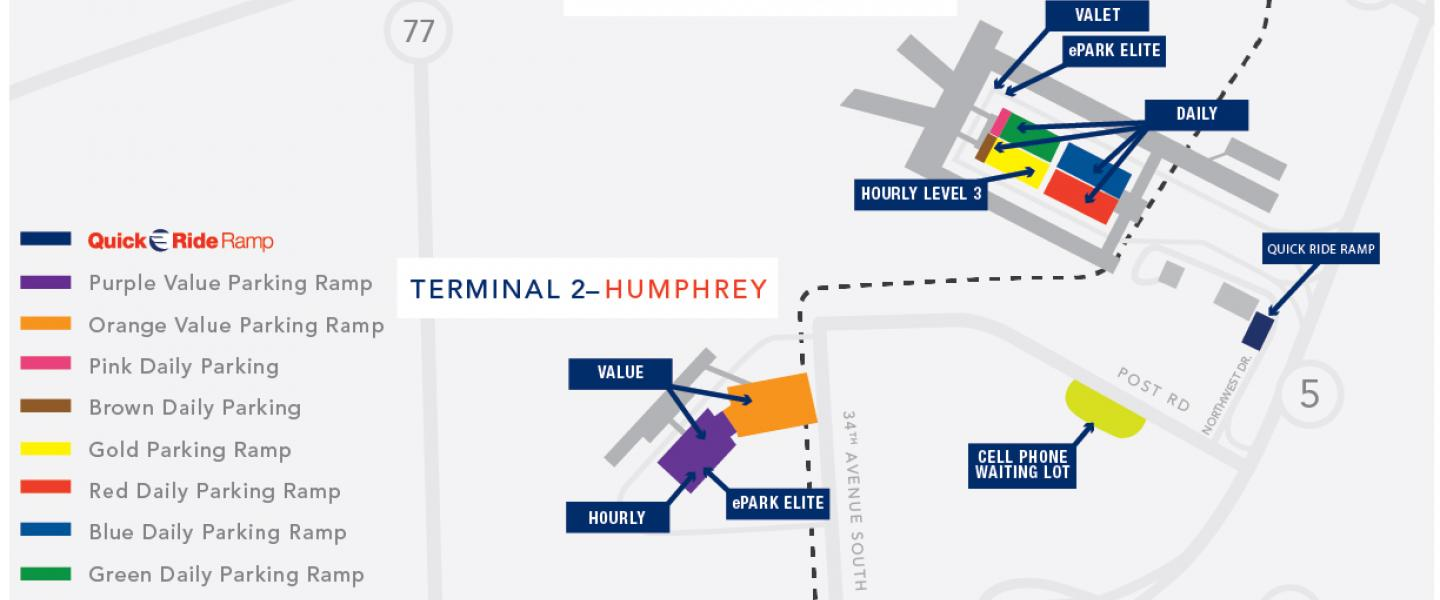 Minneapolis Airport Parking Map
