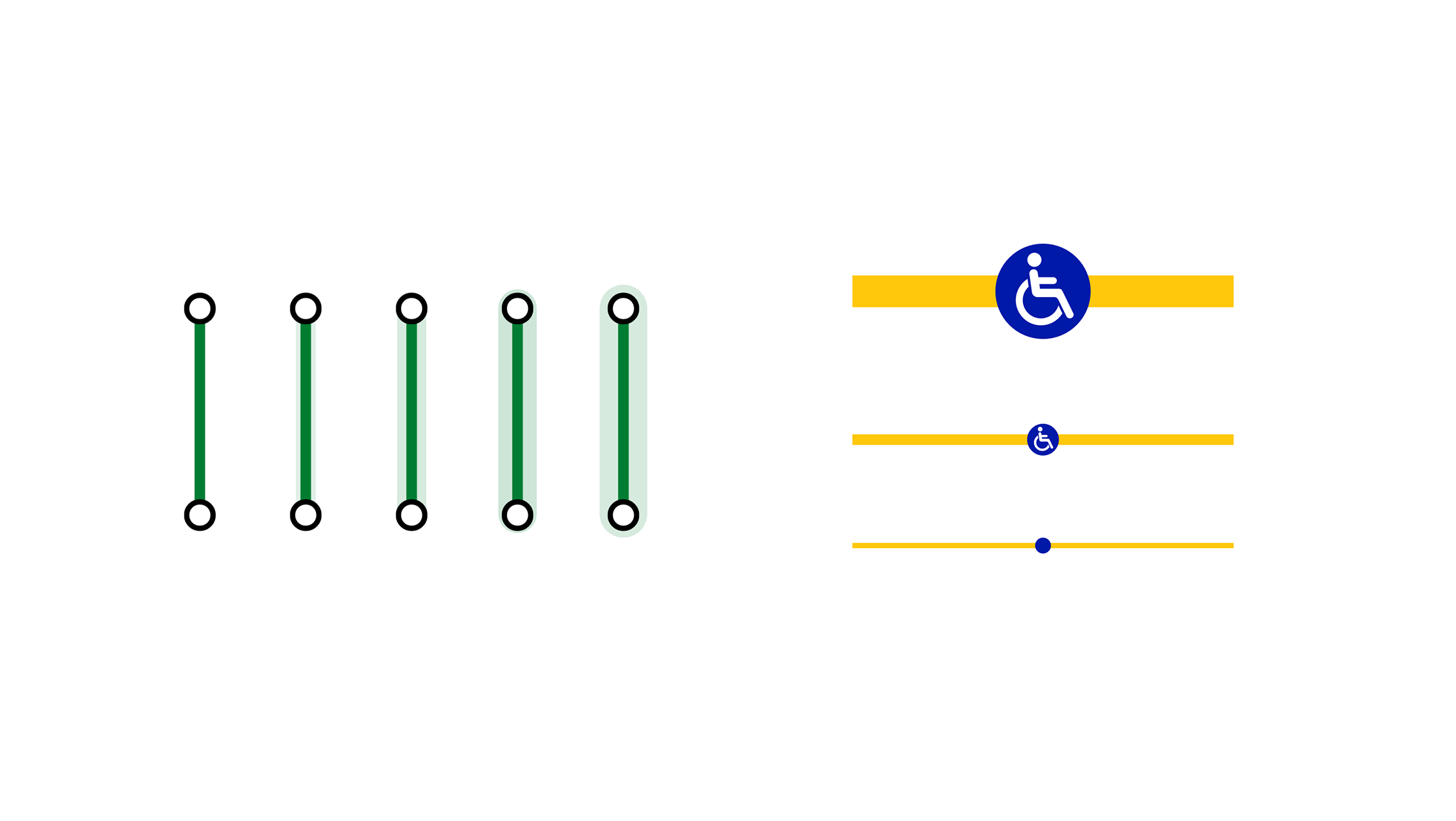 An image of showing live disruptions on Tube line segments and icons changing when zooming into the map