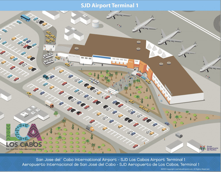 Los Cabos Airport Parking Map - Terminal 1