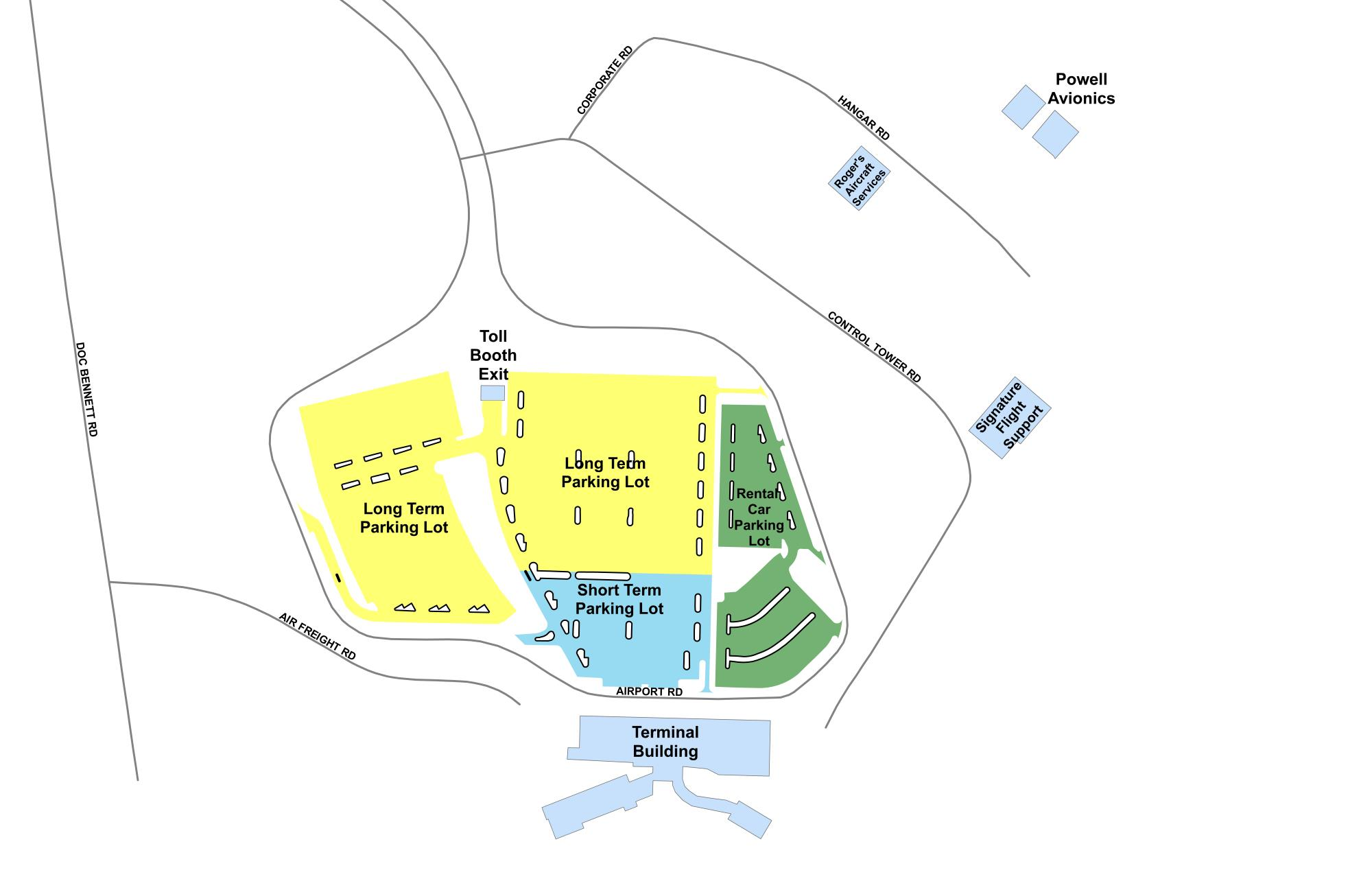 Fayetteville Airport Parking Map