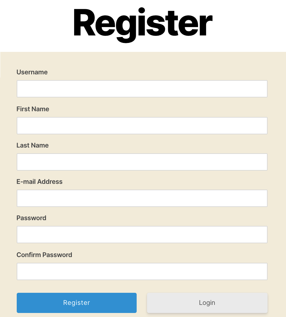 Teachers can create an account, by completing the registration form.