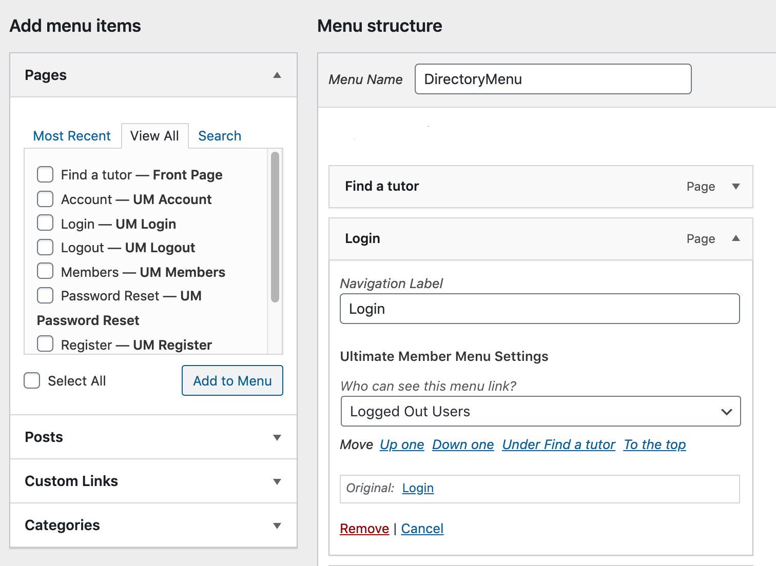 You can control who should see each item in your WordPress menus.