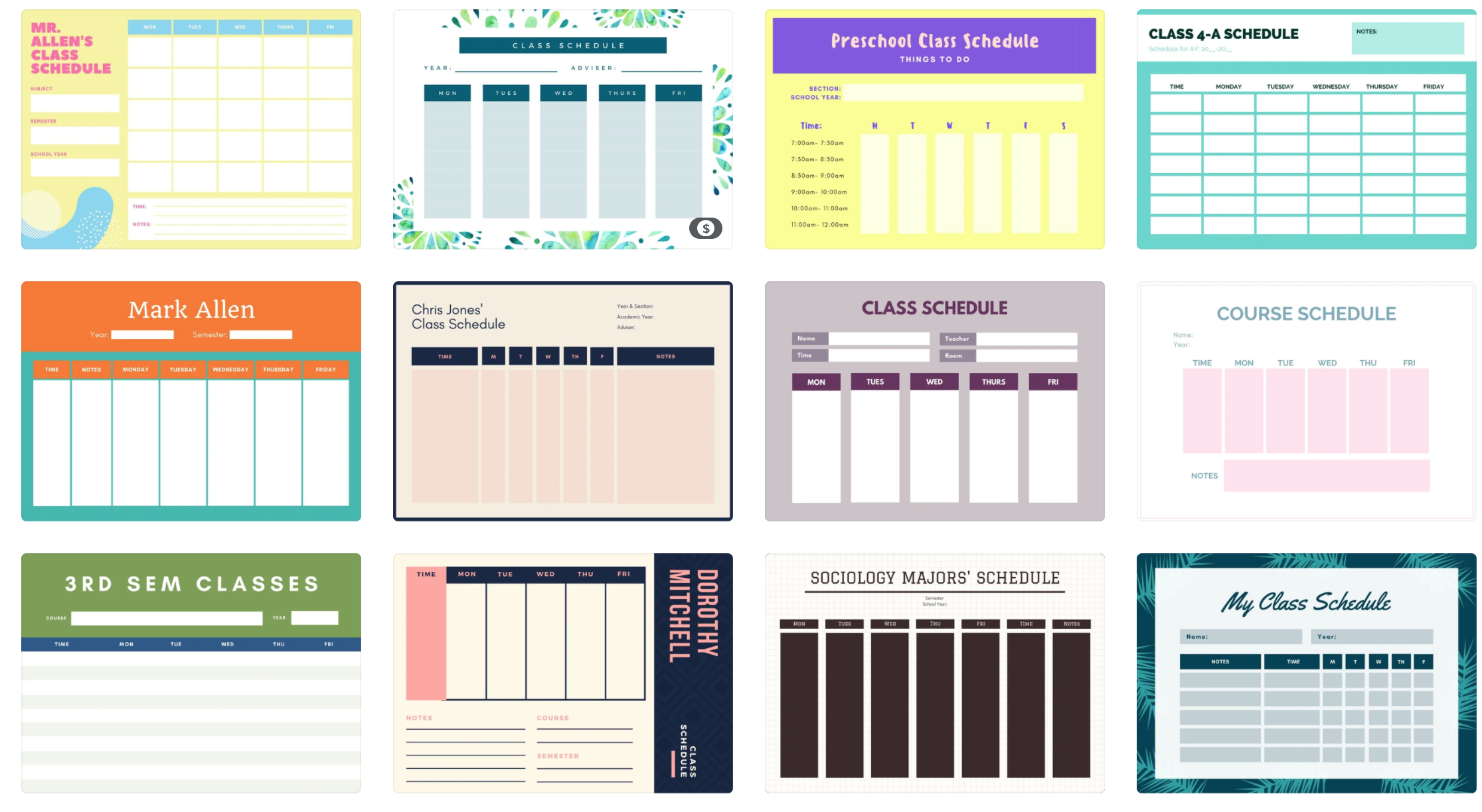 ideas for homeschool schedule printable template