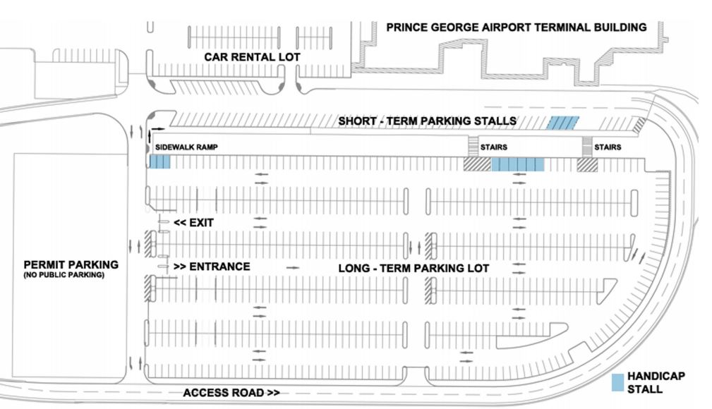 Prince George Airport Parking Map