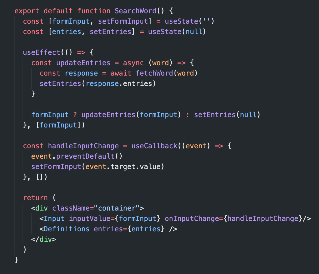 Link to source code of code snippet