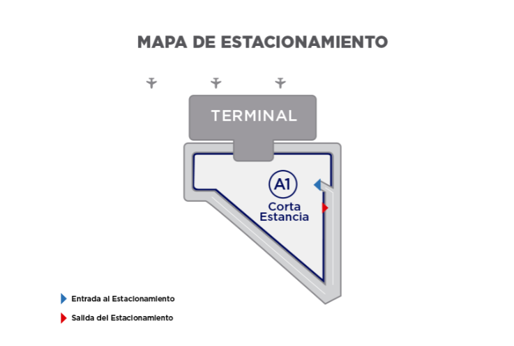 Culiacan Airport Parking Map
