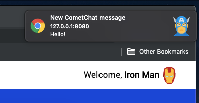 Background chat notifications