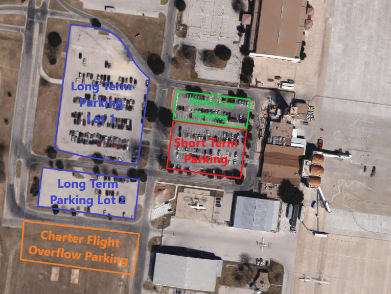 San Angelo Airport Parking Map