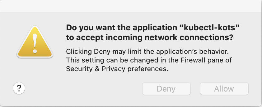 On macs, you may need to allow this action