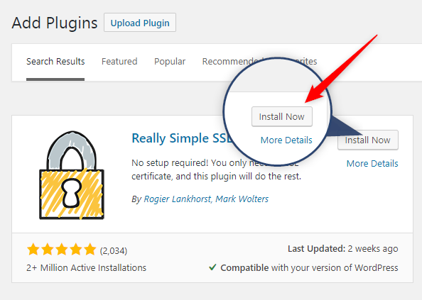 Install Real Simple SSL to get SSL certificate
