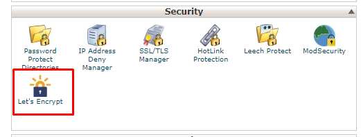 let's encrypt in hosting C-Panel.