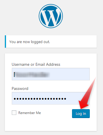 Login to your WordPress website dashboard