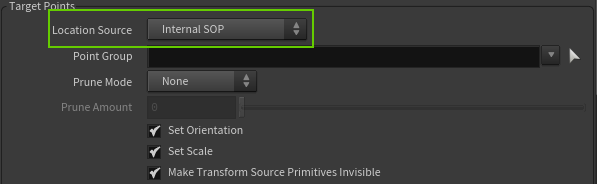 Use Internal SOP for scattering points