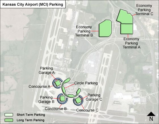 Kansas City Airport Parking Map