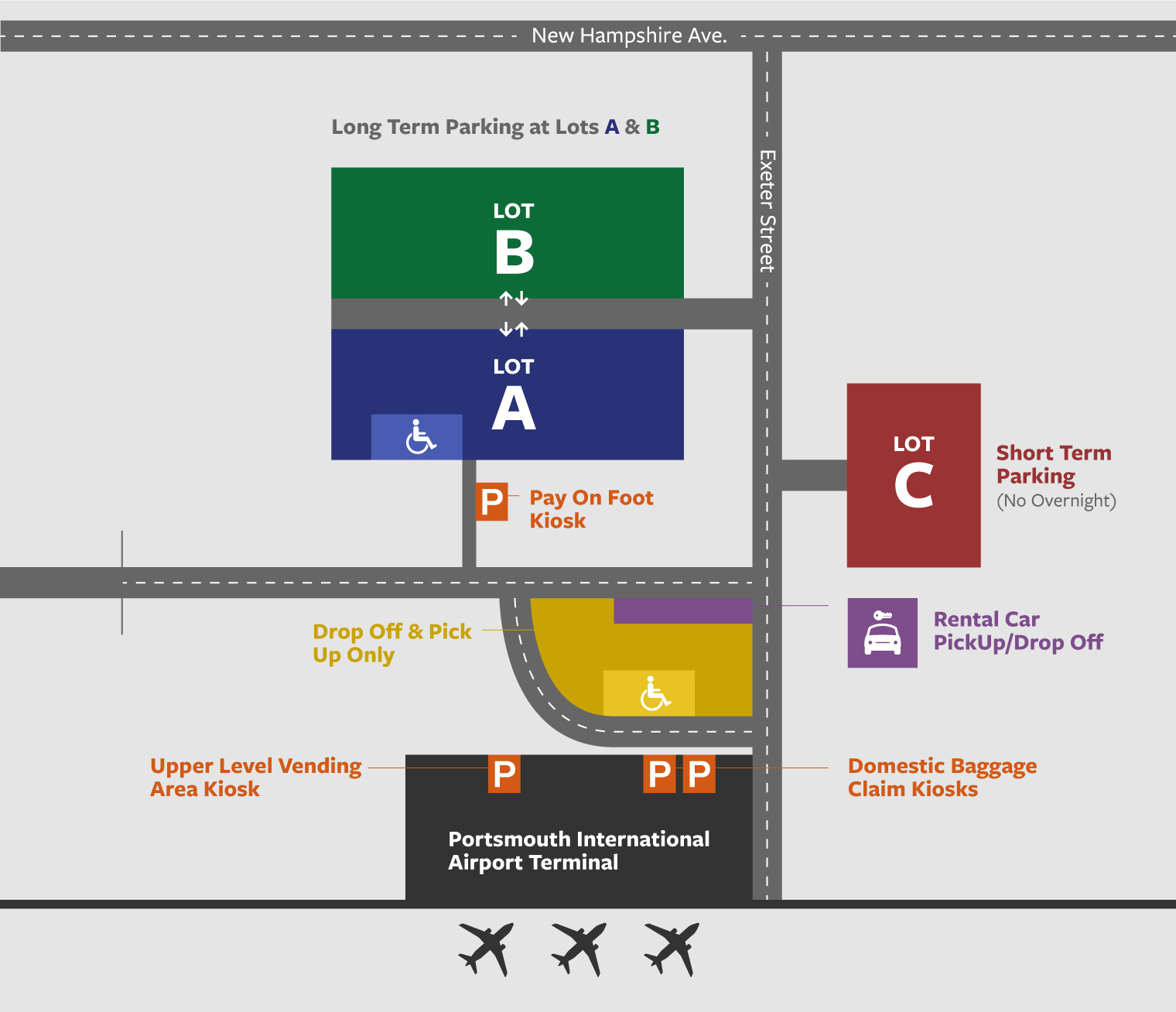 Portsmouth Airport Parking Map, Rates, Reviews and Availability