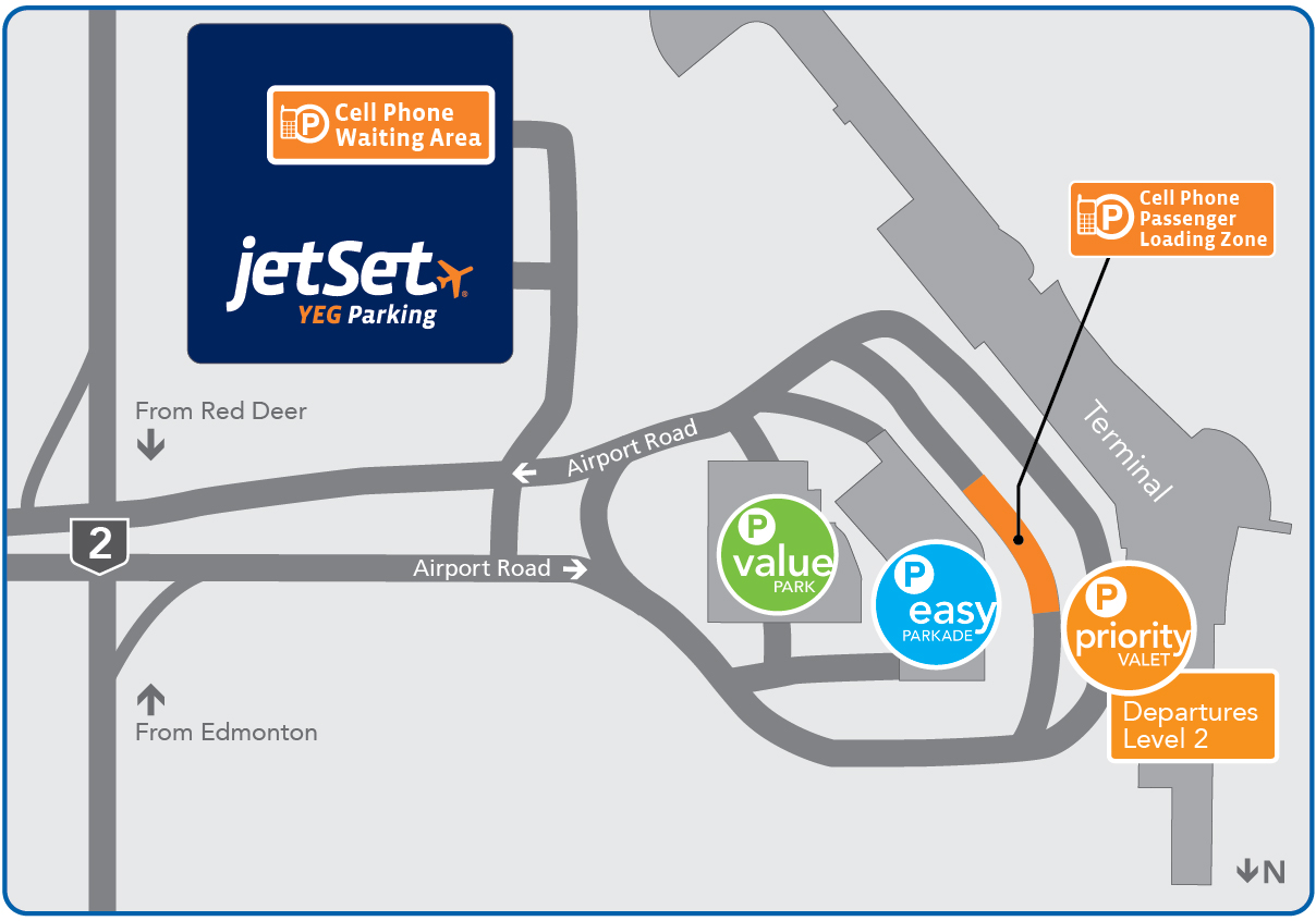 Edmonton Airport Parking Map
