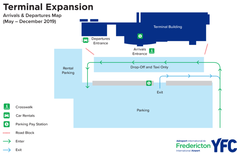 Fredericton Airport Parking Map