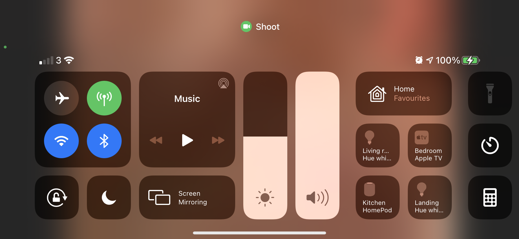 """Swipe down from the top-right of your screen to open Control Center and select """"Screen Mirroring"""""""