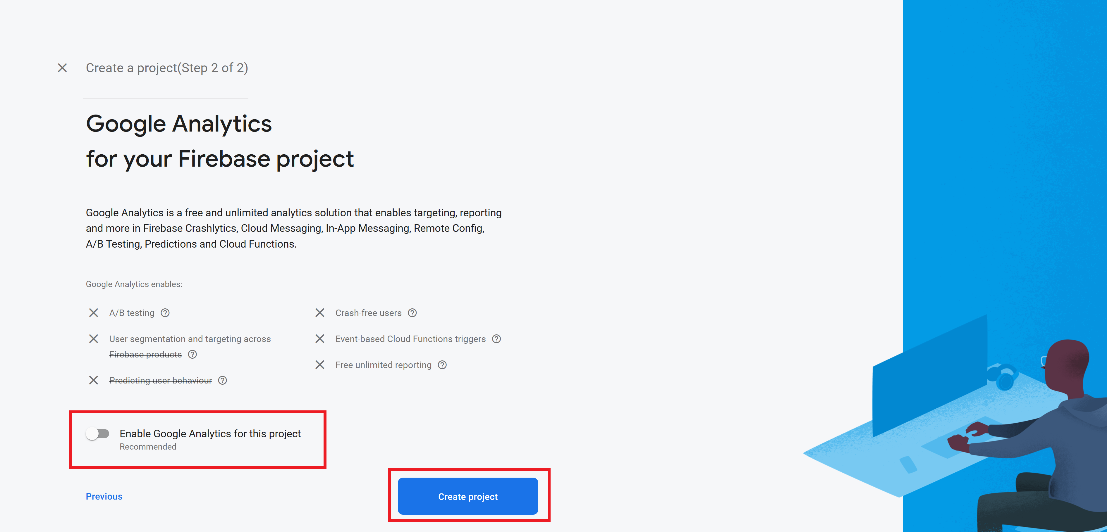 Creating Firebase Project Step 2