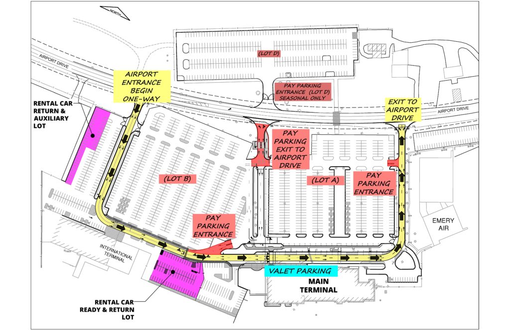 Rockford Airport Parking Map