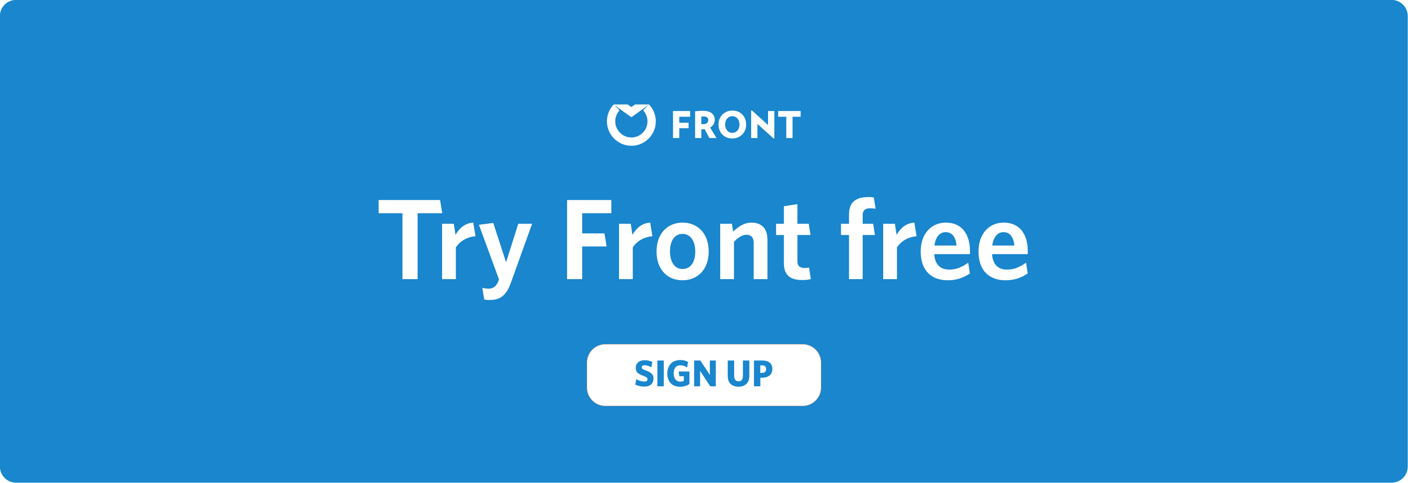 Sign up for Front