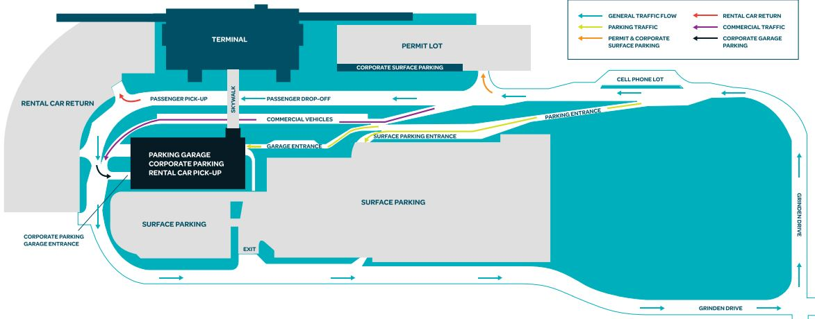 Duluth Airport Parking Map