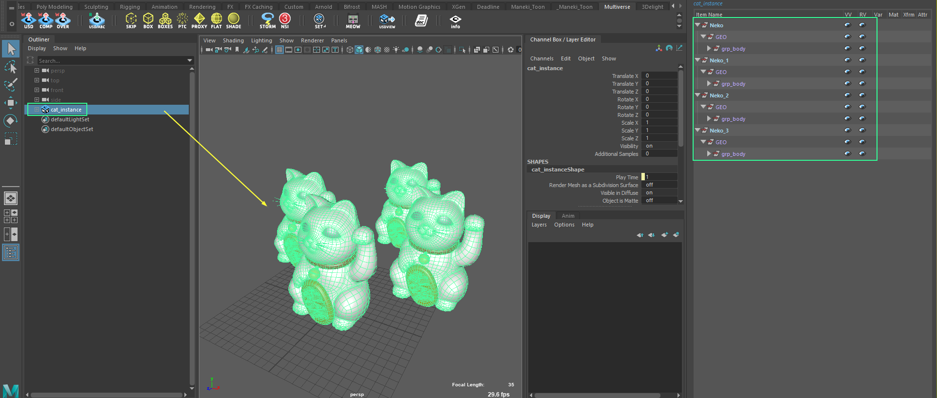 Instancing from Houdini read back in Maya