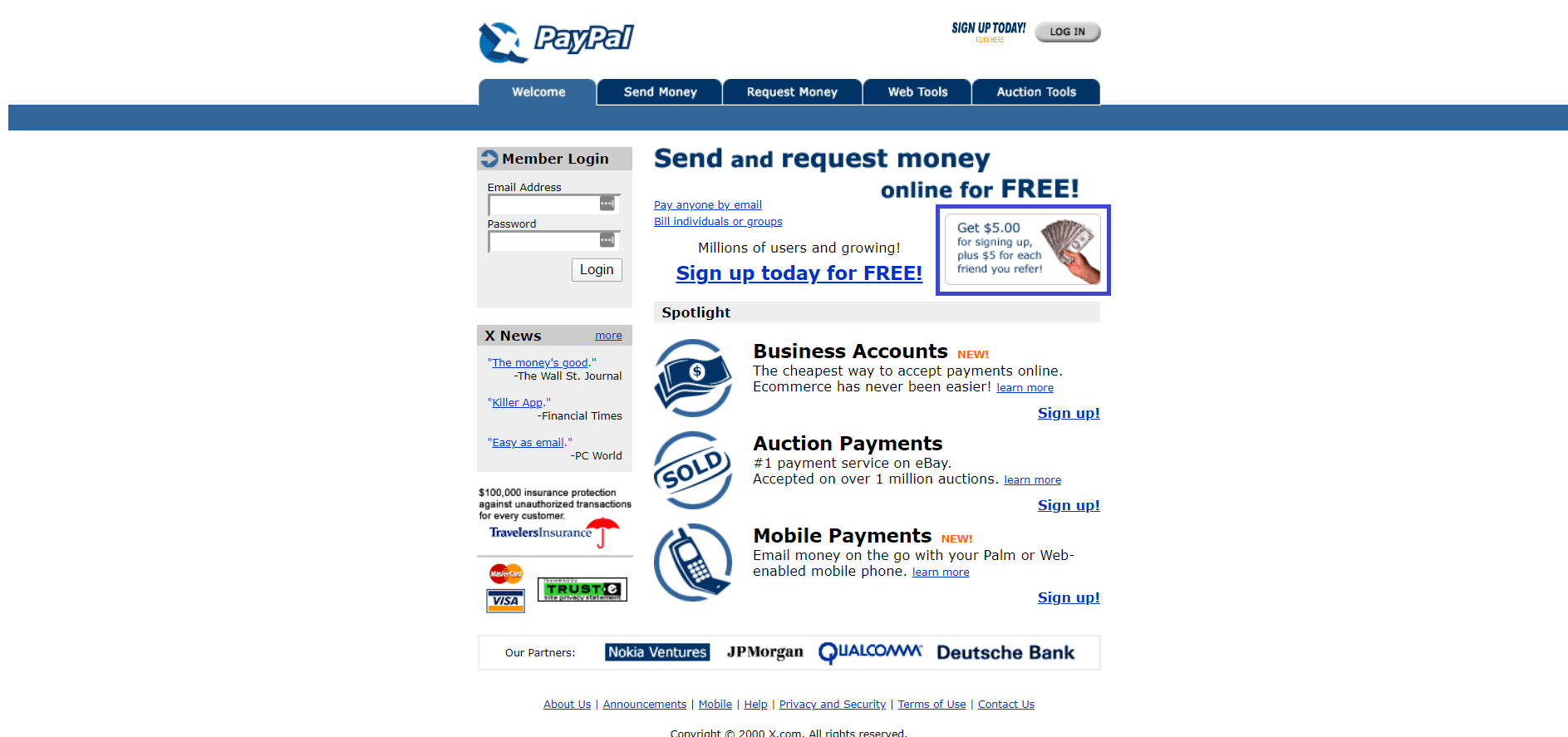 Paypal growth hack