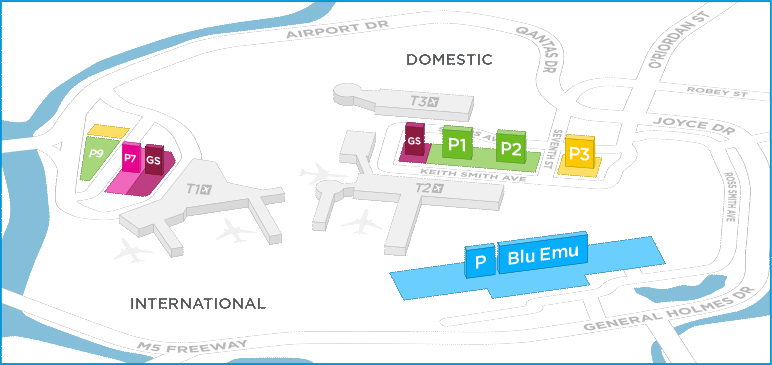 Sydney Airport Parking Map