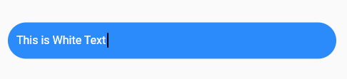 screenshot of white text in a blue form field