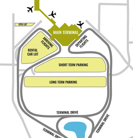 Mobile Airport Parking Map