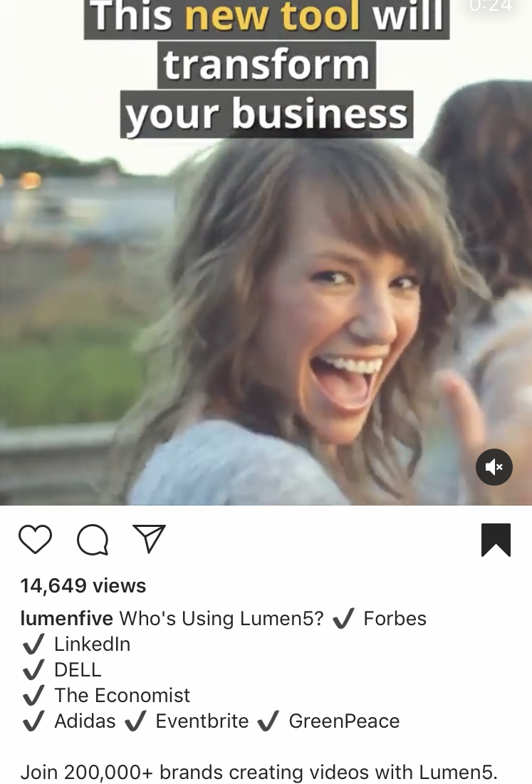 Lumen5 social proof