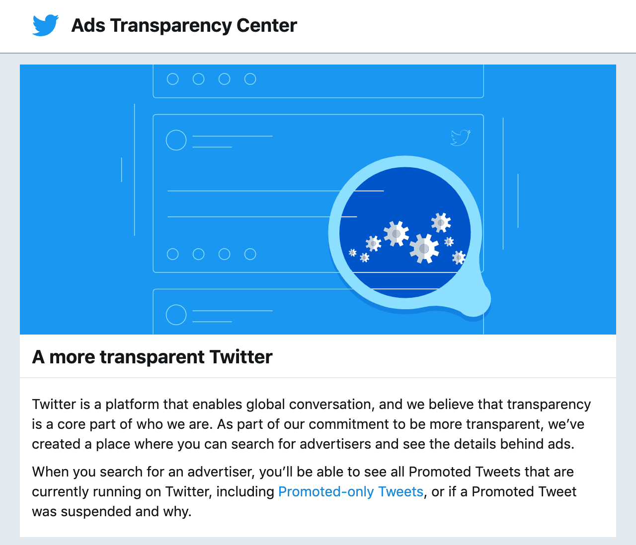 Twitter Ads Transparency Center