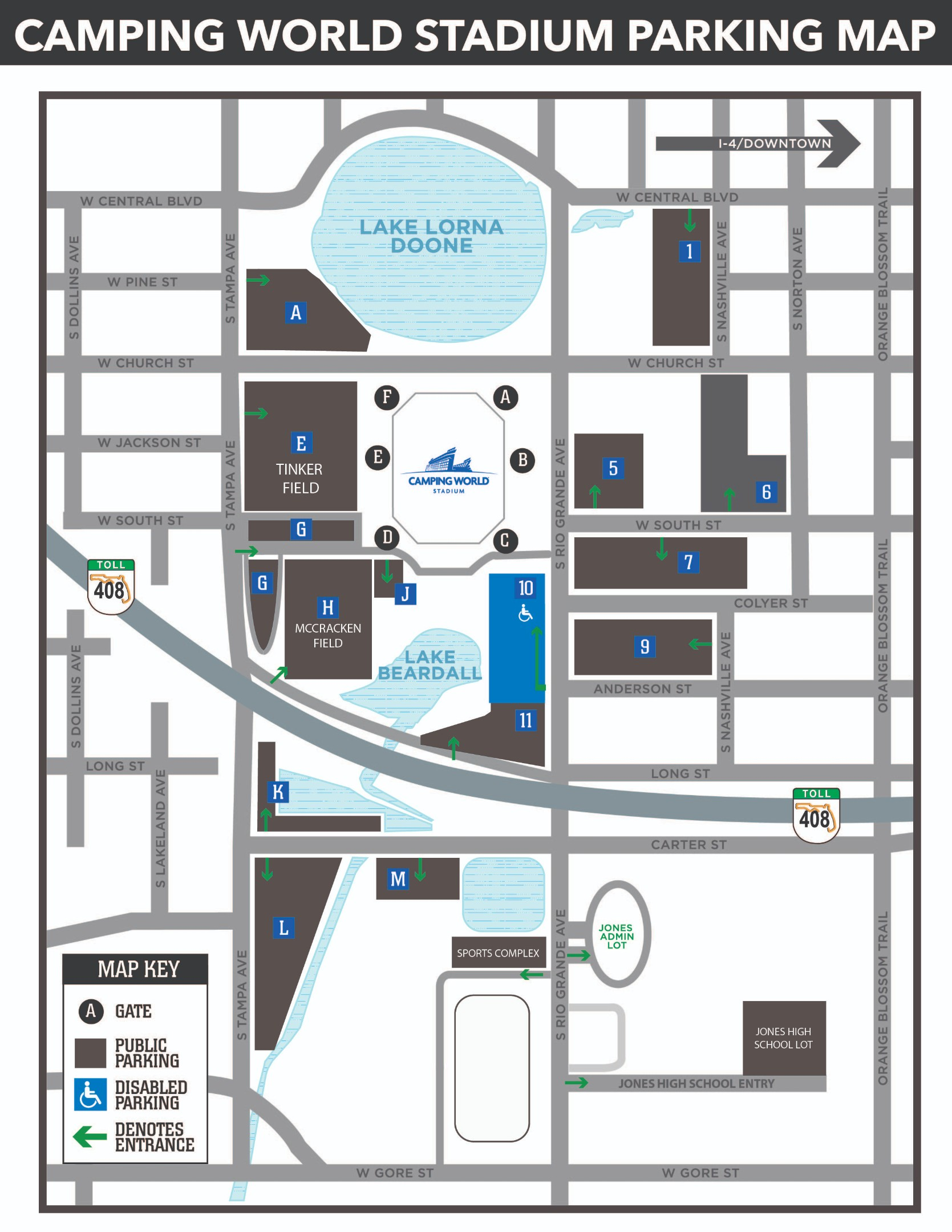 Camping World Stadium Parking Map