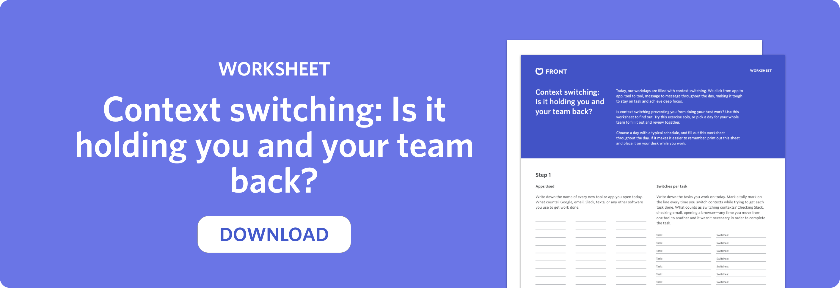 context switching worksheet