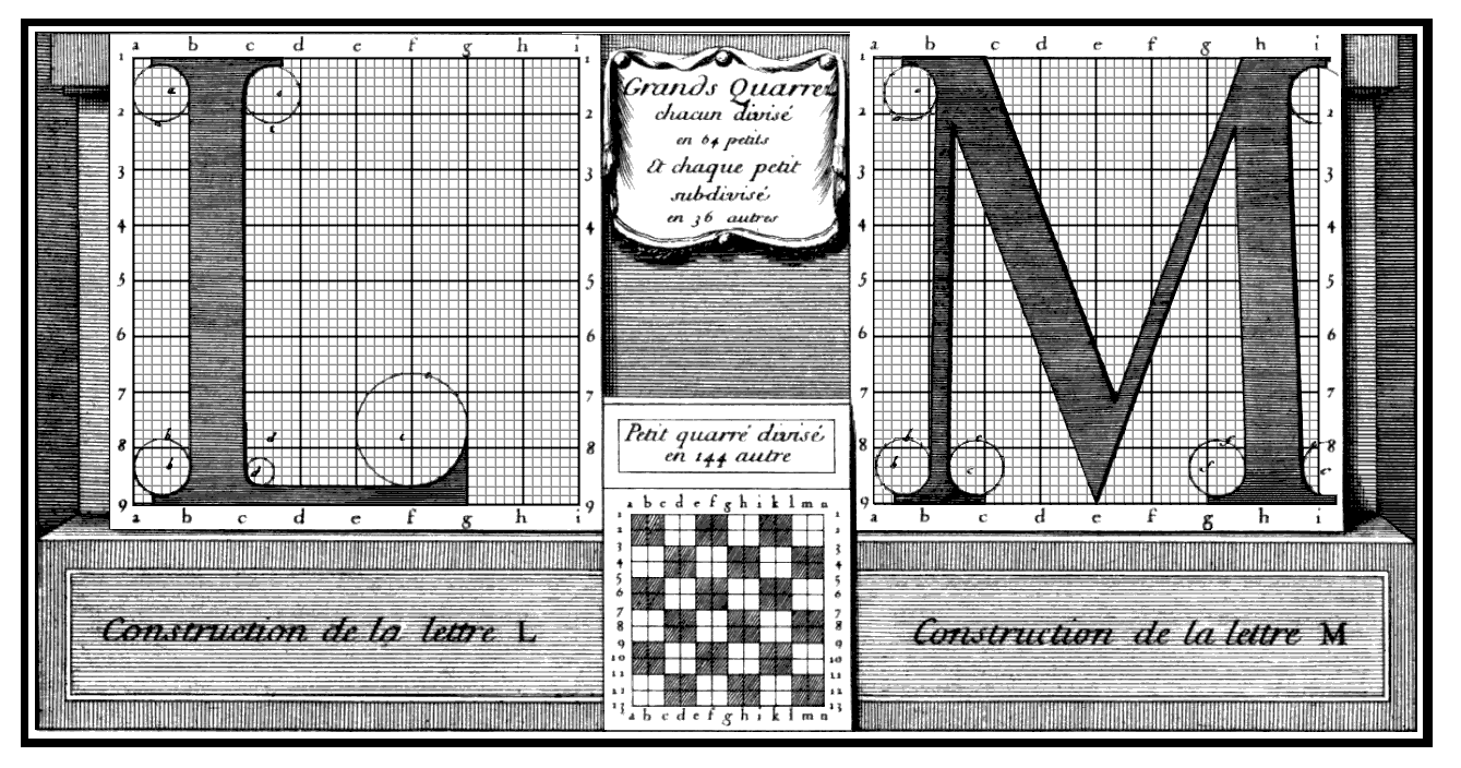 The Roman du Roi construction grid
