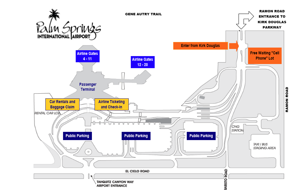Palm Springs Airport Parking Map