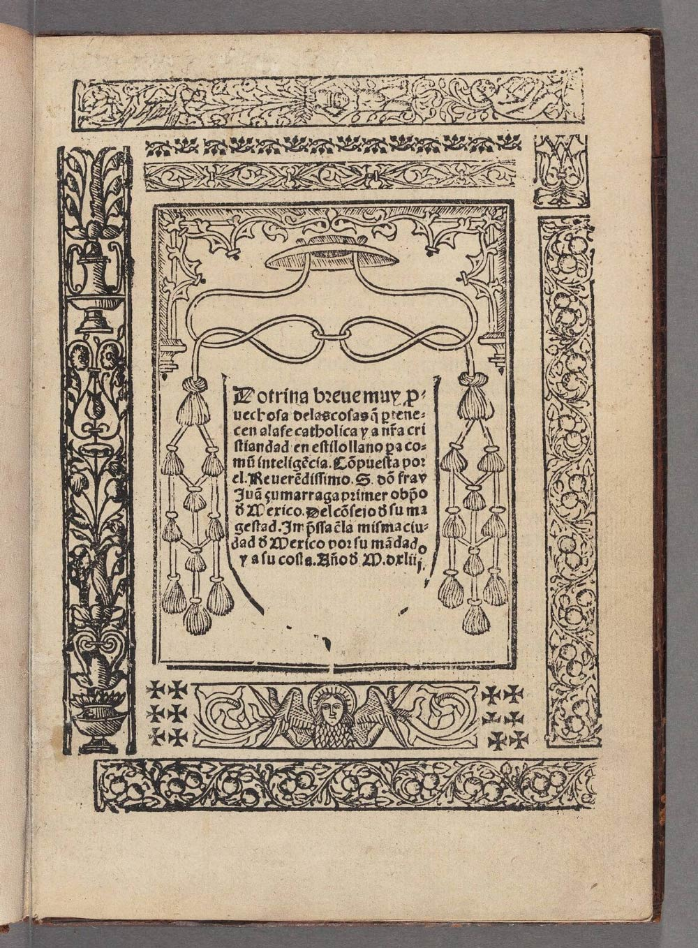 Doctrina breve, edition of 1544, printed in Mexico City. Image from Houghton Library, Uni of Harvard.